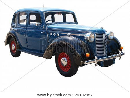 1939 automobile isolated with clipping path