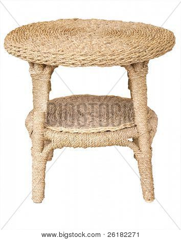Cane Table isolated with clipping path