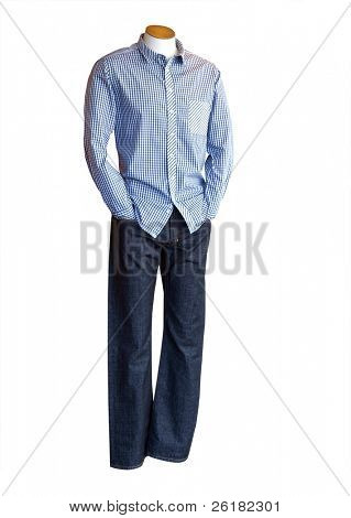 Male Mannequin isolated with clipping path