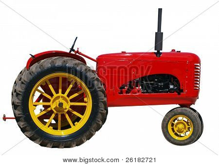 Restored Vintage Massey Harris 101 Junior isolated with clipping path