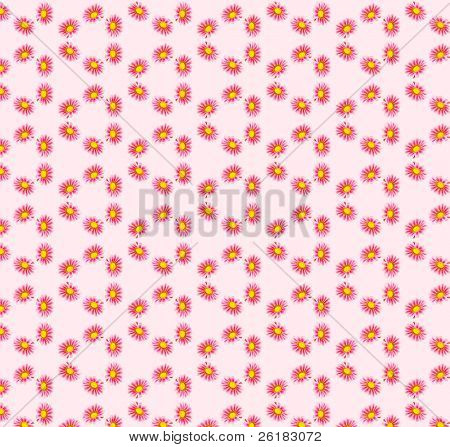 Gazania Sparking Burgundy Seamless pattern with pink background
