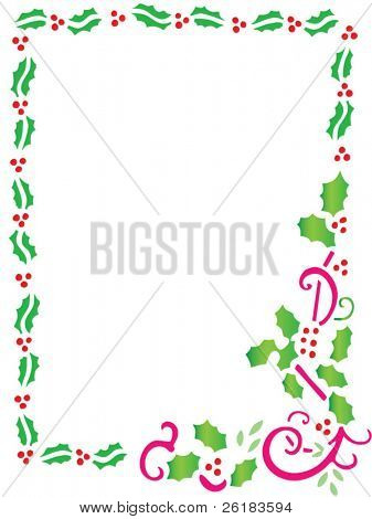 Holly Border in vector format