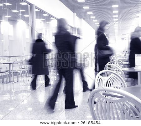 modern interior, moving women,silhouettes