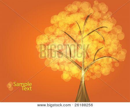 orange tree vector