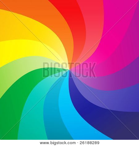 Fondo swirly de arco iris - vector