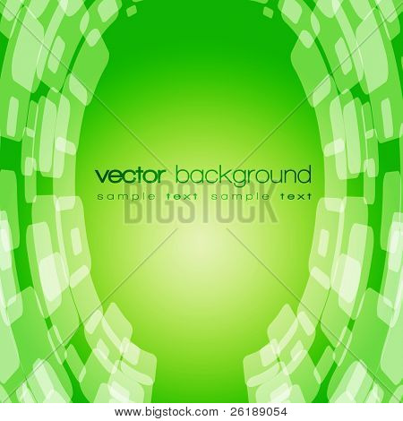 Vector 3D warped square on the colorful background with text