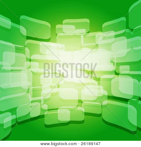 Colorful perspective warped squares vector background