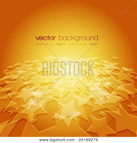 Vector 3D stars on the colorful background with text