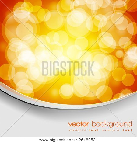 EPS10 Glittering gold and yellow lights background with text - vector
