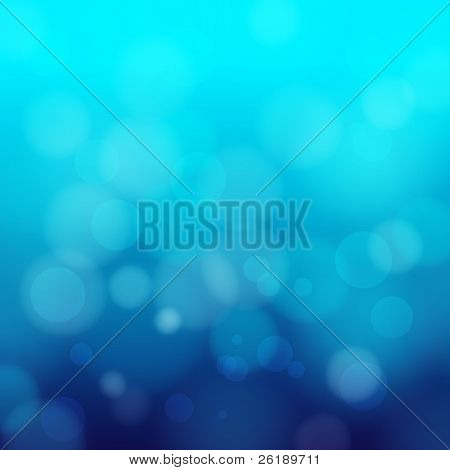EPS 10 Blue bokeh abstract light background - Vector illustration