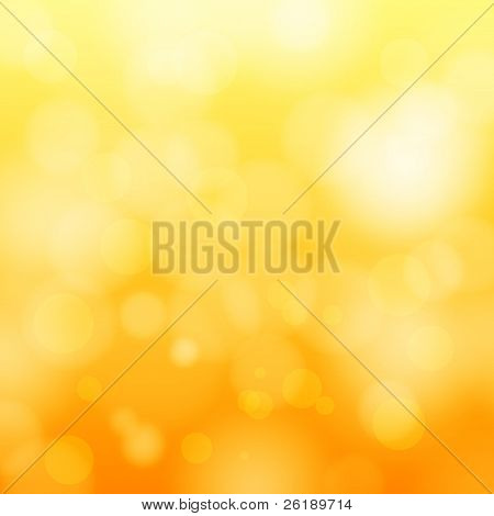 EPS 10 orange Bokeh abstract light Background Vector illustration