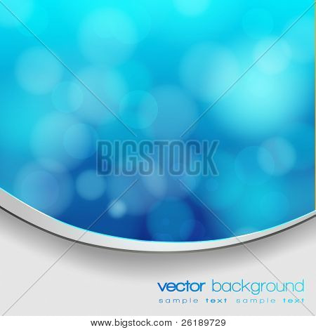 EPS 10 Blue bokeh abstract light background with frame and shadow - Vector illustration