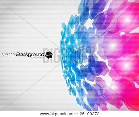 EPS10 3D Abstract fly hexagon shapes vector background