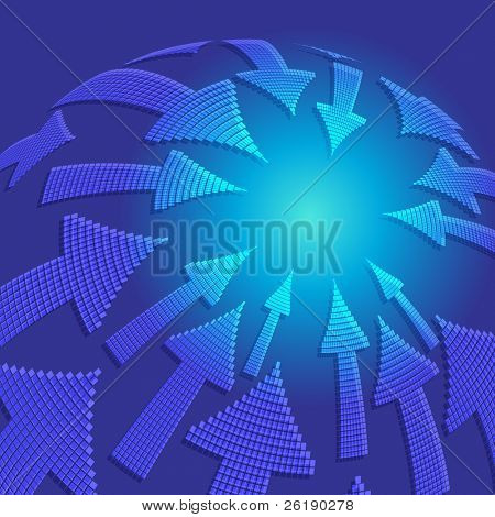 EPS10 Arrow vortex Vector background