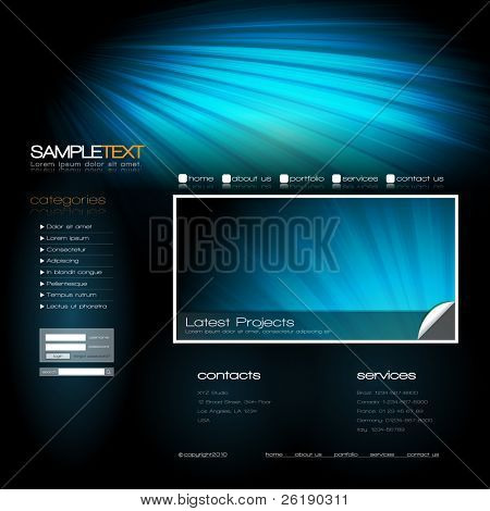 EPS10 Vector Website Design Template