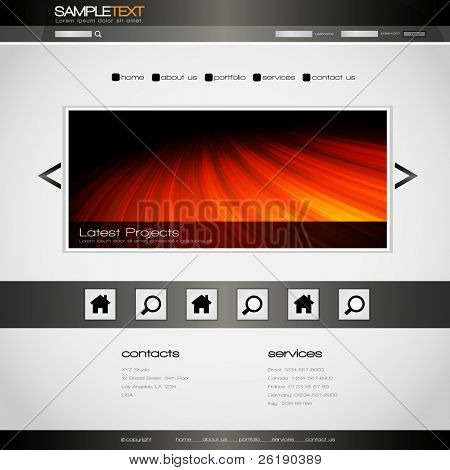 EPS10 Colorful Vector Website Design Template
