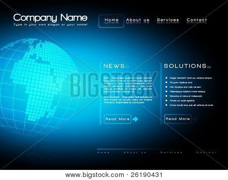 Vector de plantilla Web EPS10 negocios