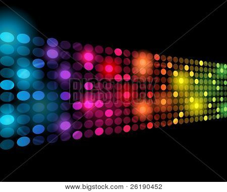 EPS10 3D Perspective Colorful Dots Abstract Vector Background