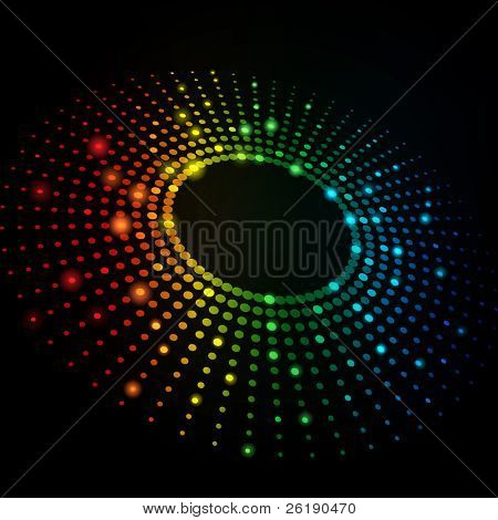 eps10 3d bunte Punkte abstract Vector background