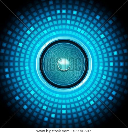 eps10 bunte Lautsprecher abstract Vector background