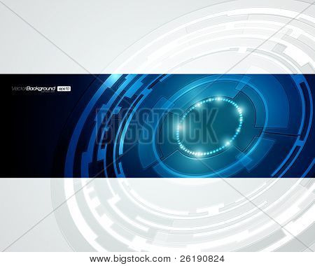 EPS10 Abstract Retro Technology Circles Vector Background
