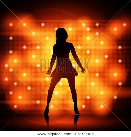 Party Girl Tänzerin - bunte EPS10 Design - junge Sexy Frauen tanzen