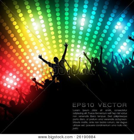 eps10 Party-People vector Background tanzen junge Menschen