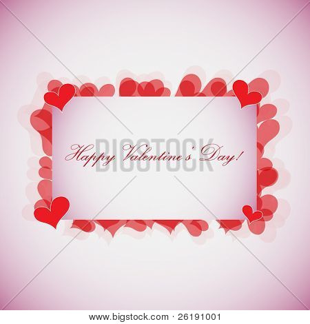 EPS10 Valentines Day Card - Vector Design