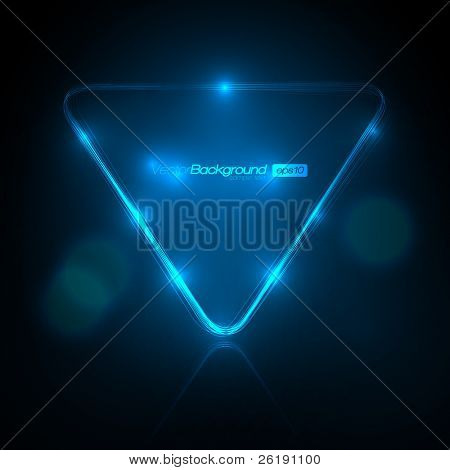 EPS10 Speech Bubble Made of Light Vector Design