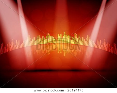 Colorful EPS10 Stage Design - Vector Background