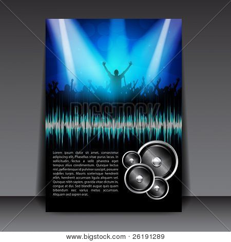 Colorful EPS10 Flyer Design â?? Sensation Party - Vector Background