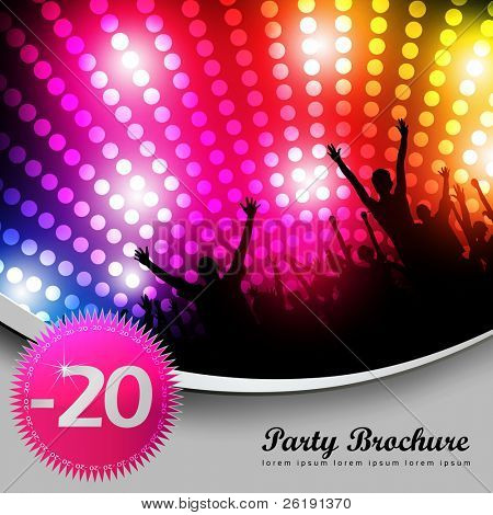 Party Brochure Template - EPS10 Vector Design