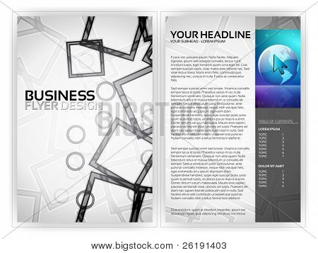 Business Flyer Vorlage eps10 Vektor entwerfen