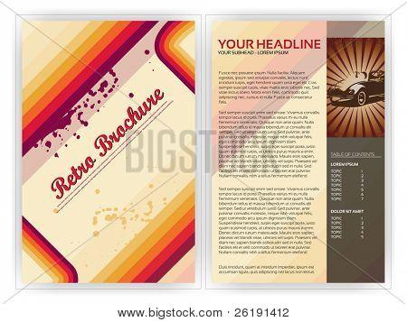 Retro Brochure Template - EPS10 Vector Design