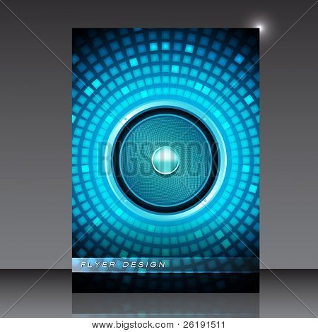 Audio Speaker - Party Flyer - EPS10 Vector Design