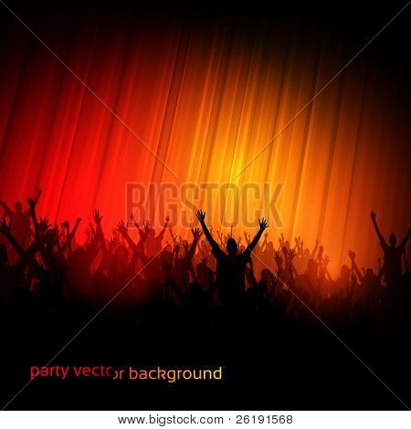 EPS10 Party People perspectiva Vector fondo - baile jóvenes