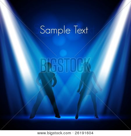 Young Dancers in the Club - Vector Design