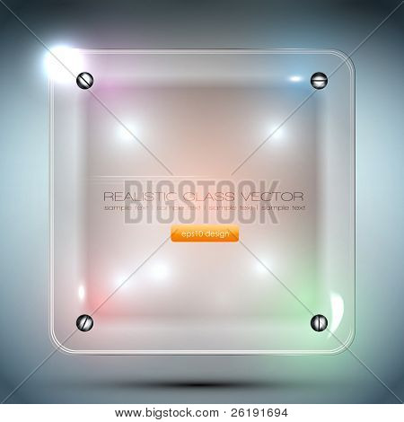 Decorative Realistic Glass Vector Frame. Fully Editable. EPS10 Design