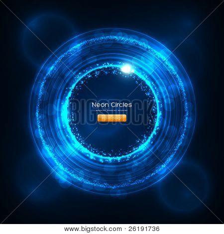 eps10 Neon Kreise abstrakt hintergrund Vektor