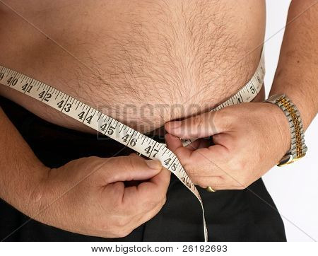 Diet time - and overweight Westerner