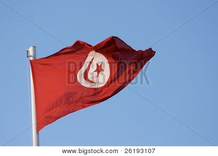 Tunisian national flag