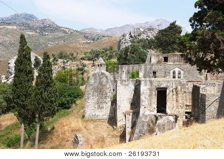 Lower monastery at Preveli, Crete
