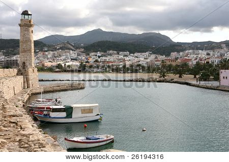 A view of Rethymno, Crete, from the Venetian Harbour.