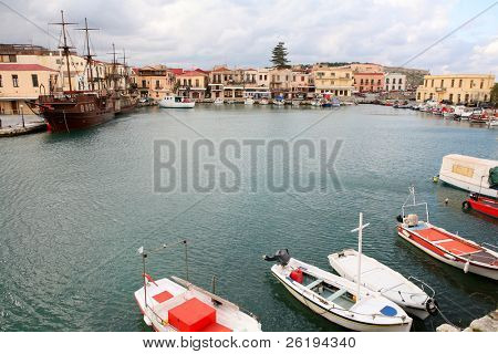 The Venetian Harbour in Rethymno.