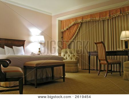 Bedroom With Curtain