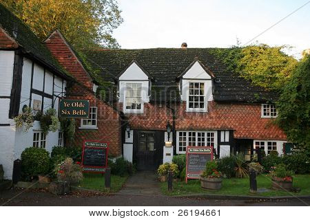 An ancient British public house in Horley, Surrey.