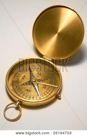 Antique, brass compass