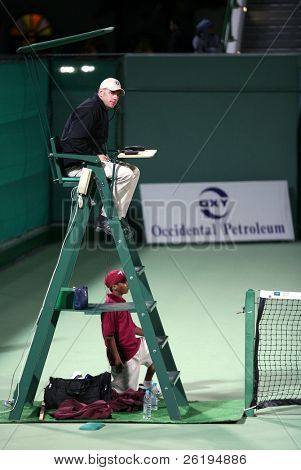 An Umpire at one of the matches at Qatar Open, January 2007