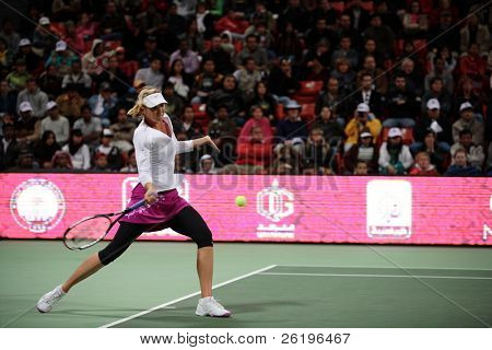 Crowd favourite Maria Sharapova at the Qatar Total Open 2008 semi-final, which the fifth seed and former Doha champion won.