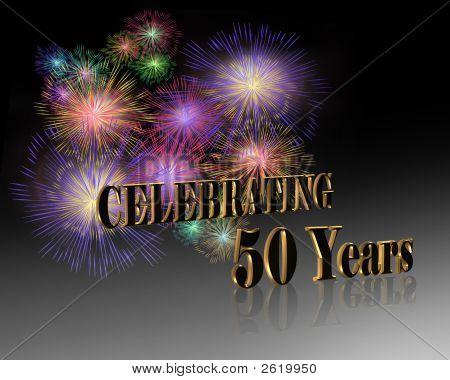 50 Jahre Feier Feuerwerk